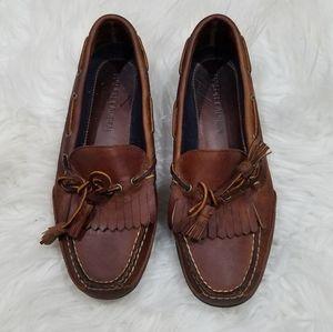 Ralph Lauren Cognac Leather Loafers